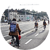 プロジェクトリポート2 自転車道設計イメージ